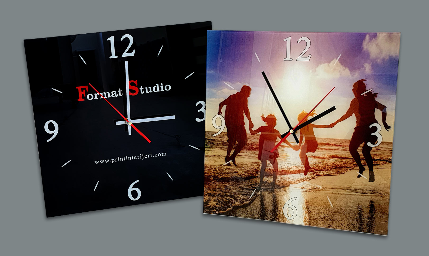 personalizirani zidni satovi